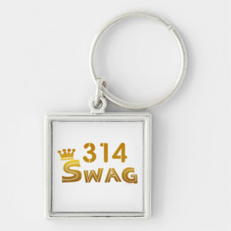 314 Missouri Swag Silver-Colored Square Key Ring