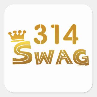 314 Missouri Swag Square Sticker