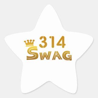 314 Missouri Swag Star Sticker