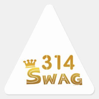 314 Missouri Swag Triangle Sticker