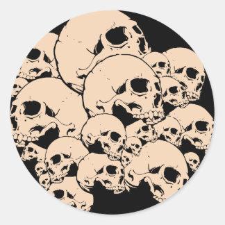 314 Skulls Round Sticker