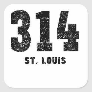 314 St. Louis Distressed Square Sticker