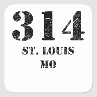 314 St. Louis MO Square Sticker
