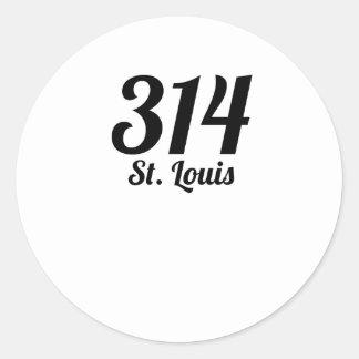 314 St. Louis Classic Round Sticker