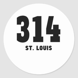 314 St. Louis Round Sticker