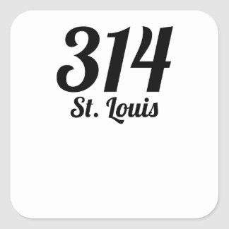 314 St. Louis Square Sticker