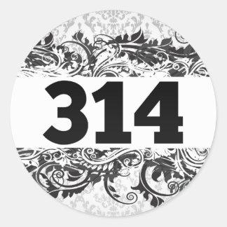 314 CLASSIC ROUND STICKER