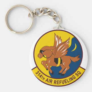 314th Air Refueling Squadron Basic Round Button Key Ring