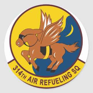 314th Air Refueling Squadron Round Stickers