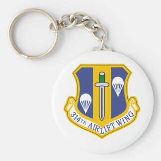 314th Air Wing Basic Round Button Key Ring