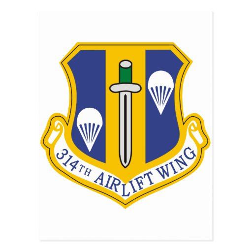 314th Air Wing Postcards