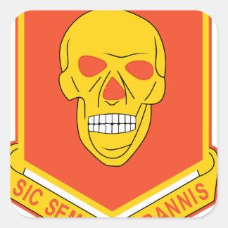 314th Field Arty. BN Square Sticker