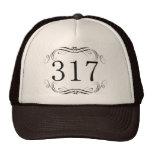 317 Area Code Hats