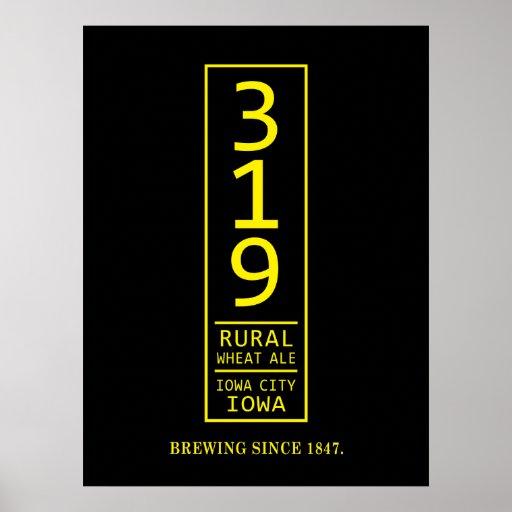 319 Rural Wheat Beer Poster