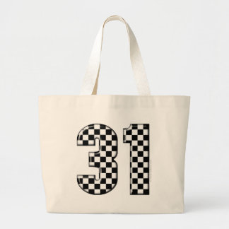 31 auto racing number canvas bag