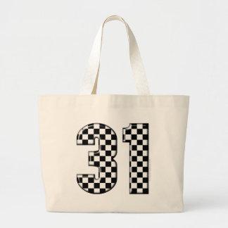 31 auto racing number jumbo tote bag