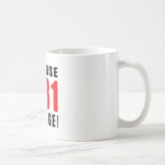 31 birthday design mug
