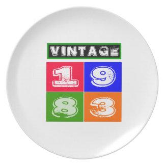 31 Birthday Designs Dinner Plates