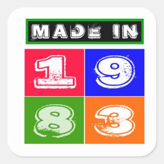 31 Birthday Designs Square Stickers