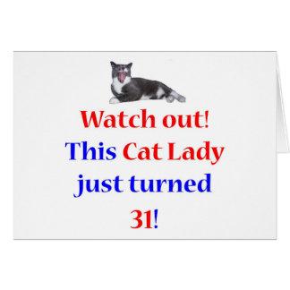 31 Cat Lady Greeting Card