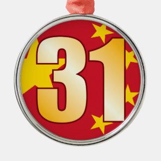 31 CHINA Gold Christmas Ornament