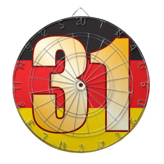 31 GERMANY Gold Dartboard