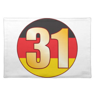31 GERMANY Gold Placemat
