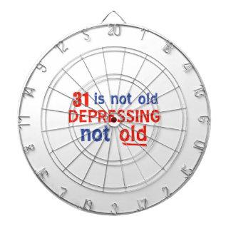 31 is depressing not old birthday designs dart board