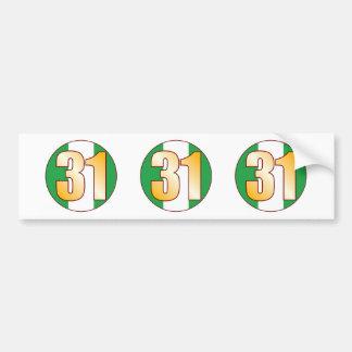 31 NIGERIA Gold Bumper Sticker
