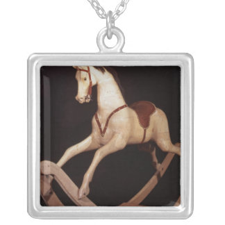 31:Rocking horse, English, 1840 Silver Plated Necklace