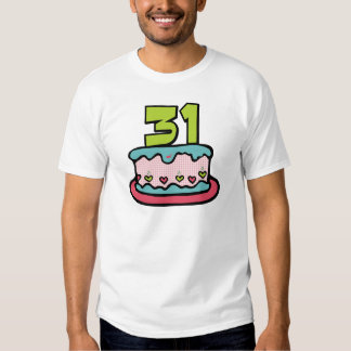 31 Year Old Birthday Cake Tshirt