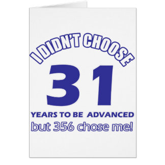 31 years advancement greeting cards