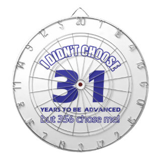 31 years advancement dart boards
