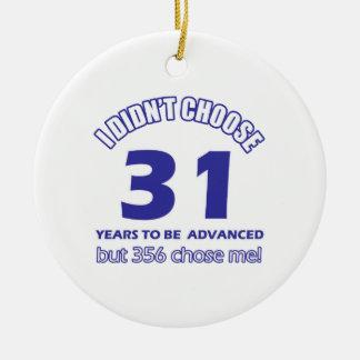 31 years advancement ornament