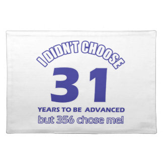 31 years advancement placemats