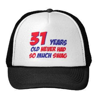 31 years old birthday design trucker hats