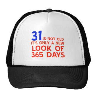 31 years Old birthday designs Mesh Hat