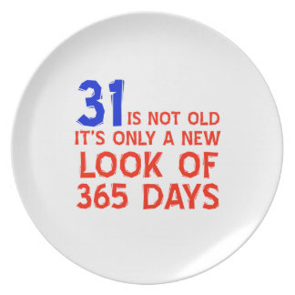 31 years Old birthday designs Party Plate