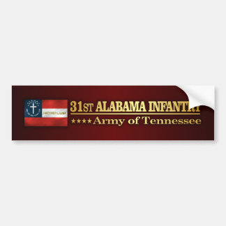 31st Alabama Infantry (BA2) Bumper Sticker