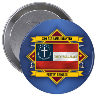 31st Alabama Infantry (F5) 10 Cm Round Badge