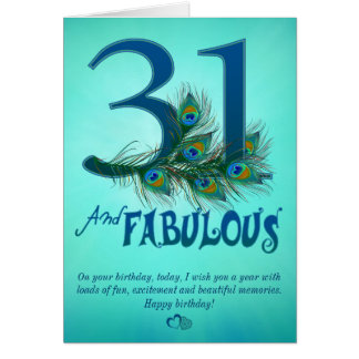 31st Birthday template Cards