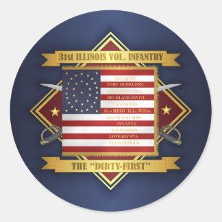 31st Illinois Volunteer Infantry Classic Round Sticker