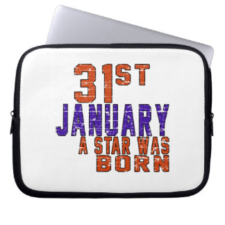31st January a star was born Laptop Computer Sleeves