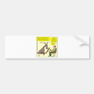 321 donkey genius smart a$$ color cartoon bumper sticker