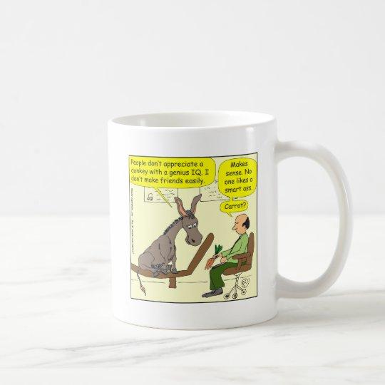 321 donkey genius smart a$$ colour cartoon coffee