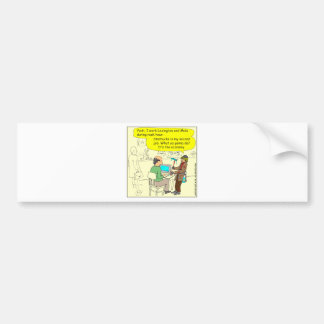 322 Squeegee man color cartoon Bumper Sticker