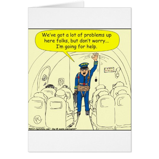 324 Airline pilot going for help colour cartoon