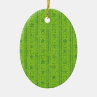 324_summer-school-boys-paper GREEN STARS STRIPES P Christmas Ornaments