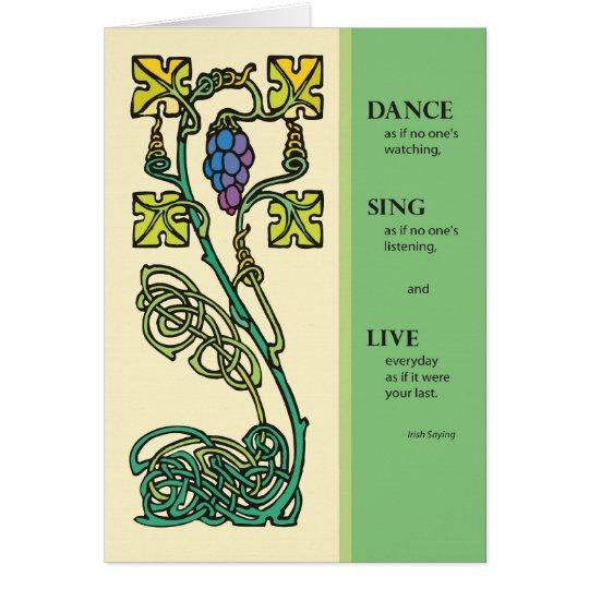 3262 Celtic Dance, Sing, Live Card