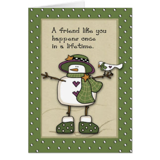 3280 Snow Lady Best Friends Greeting Card